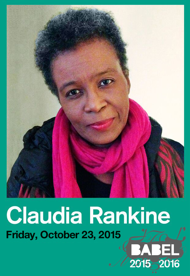 Claudia Rankine - BABEL - Just Buffalo Literary Center