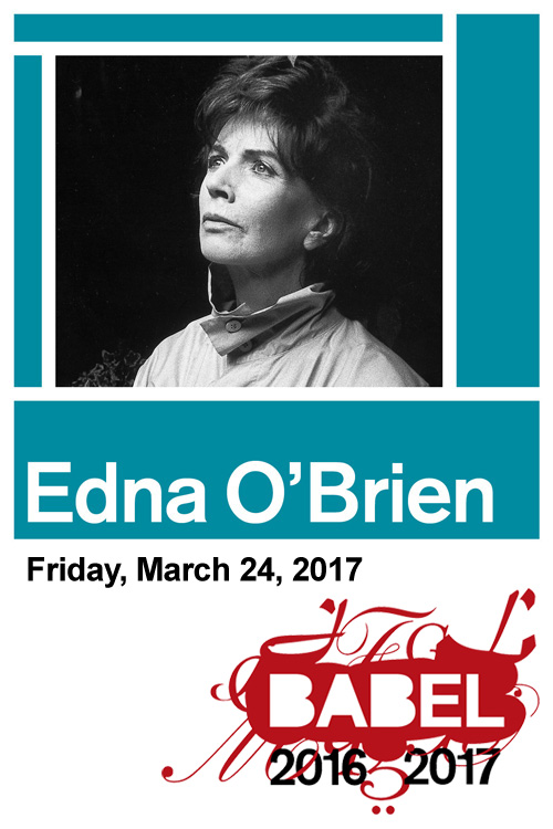 BABEL - Edna O'Brien - March 24, 2017 - Just Buffalo Literary Center