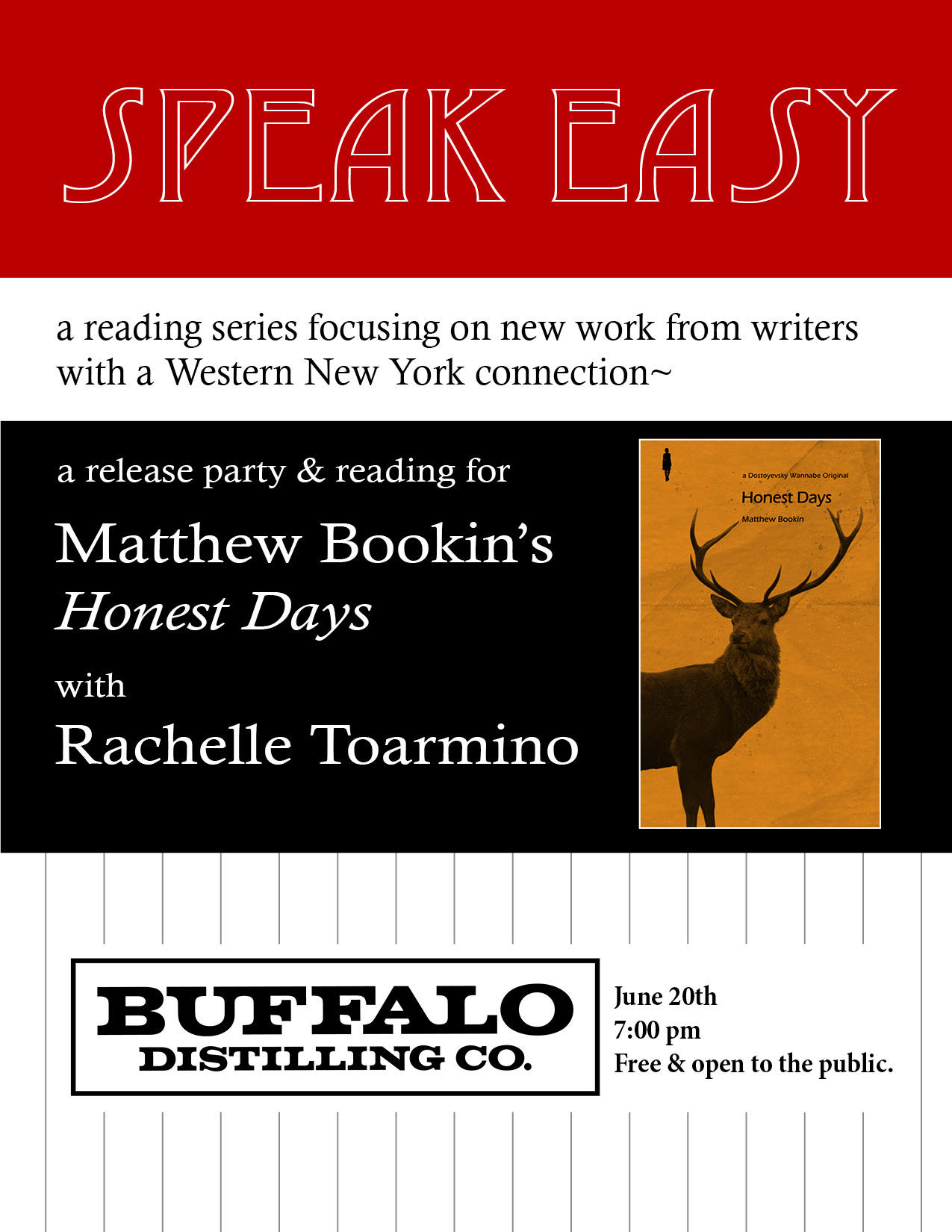 Speak Easy June flyer