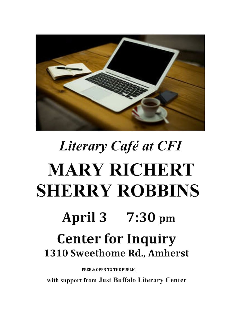 Literary Cafe at CFI: Mary Richert and Sherry Robbins