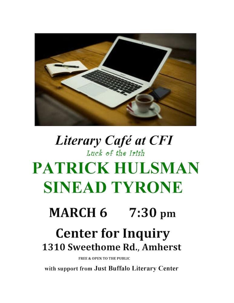 Literary Cafe at CFI: Patrick Hulsman and Sinead Tyrone