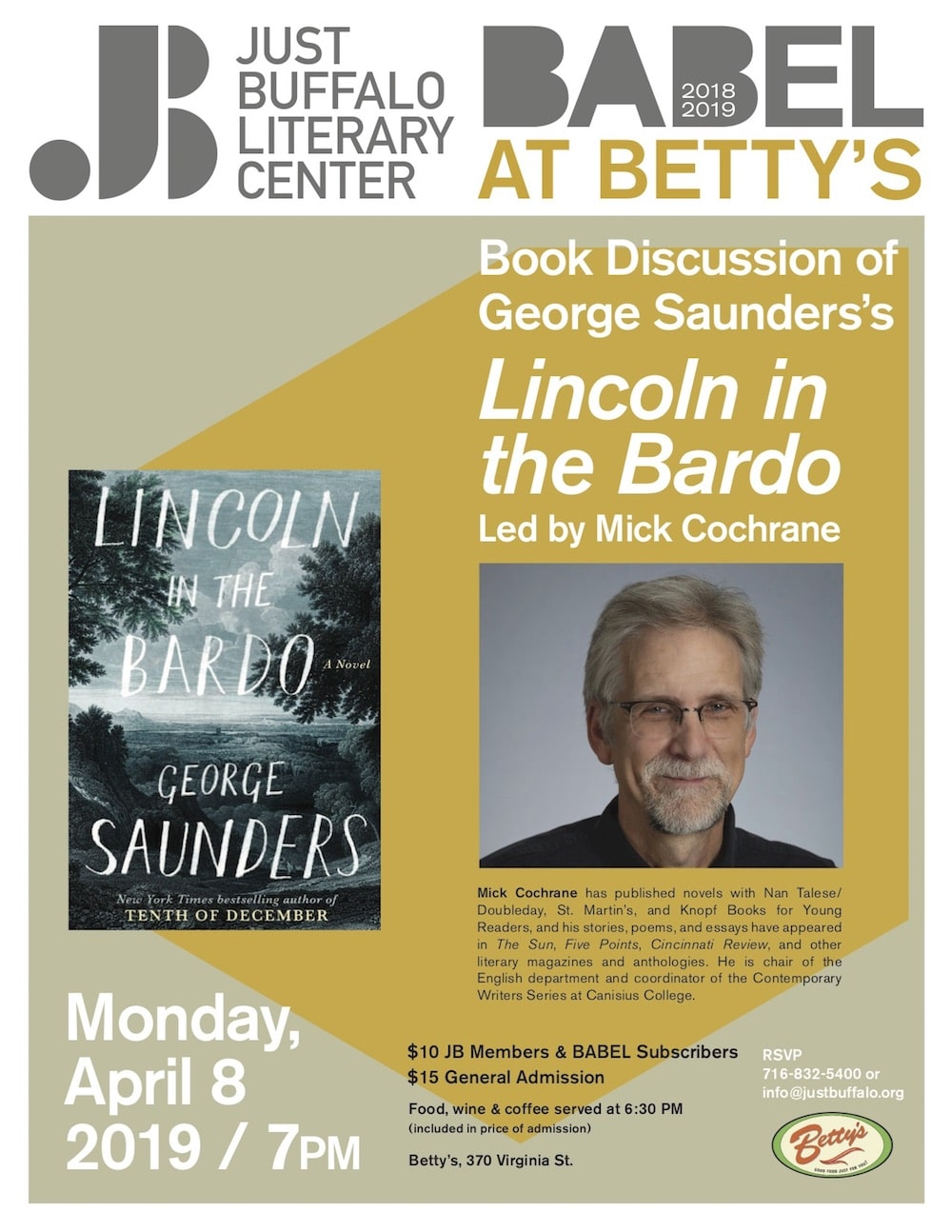 """BABEL@Betty's discusses """"Lincoln In The Bardo"""""""
