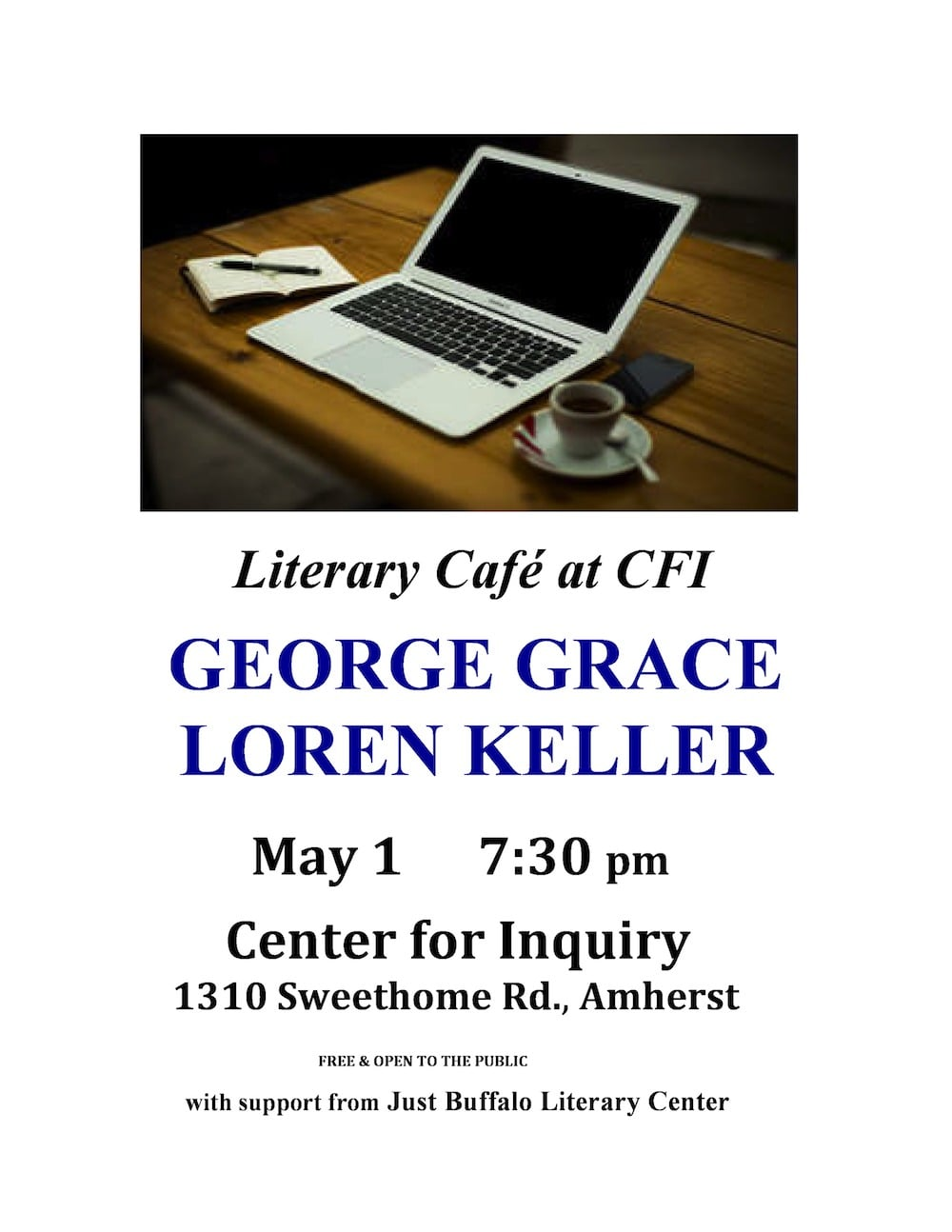 Literary Cafe at CFI with George Grace and Loren Keller