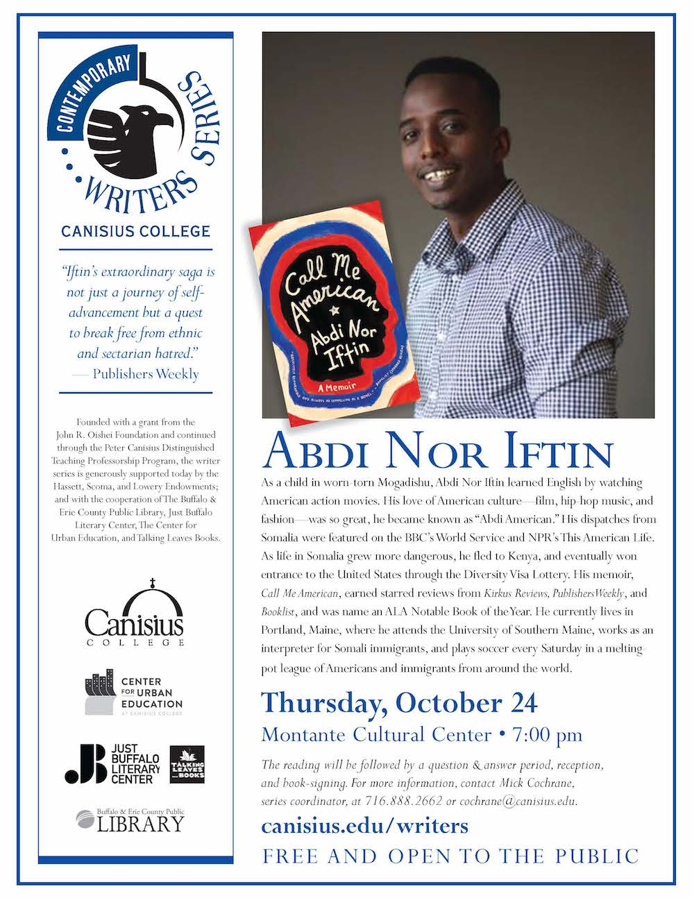 Abdi Nor Iftin: Canisius Contemporary Writer Series