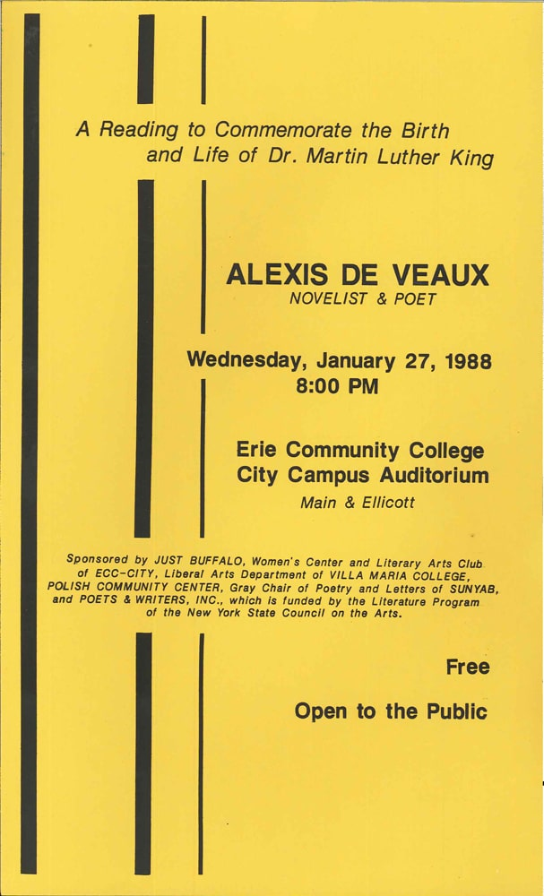 Alexis Deveaux 1988 - History - Just Buffalo Literary Center