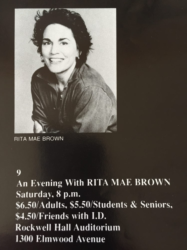 Rita Mae Brown 1989 - History - Just Buffalo Literary Center