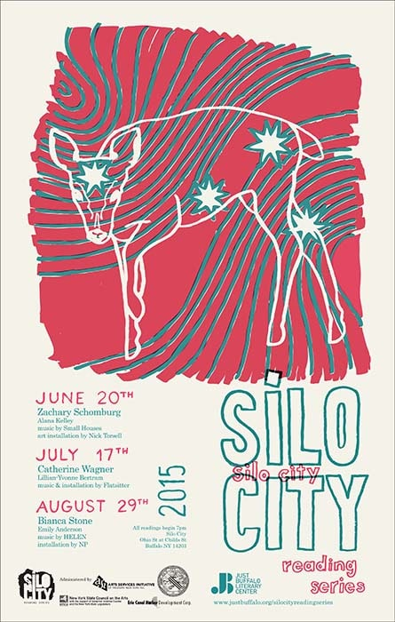 Silo City Reading Series 2015 poster
