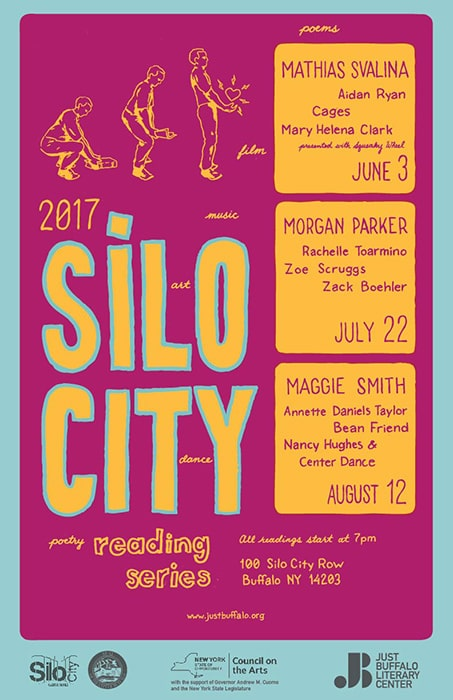 Silo City Reading Series 2017 poster