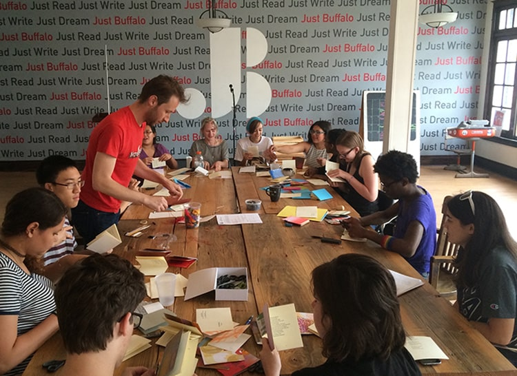 Joel Brenden chapbook making workshop